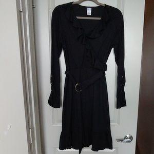 Long Sleeve Ruffled Dress